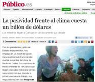 La pasividad frente al clima cuesta un billón de dólares.
