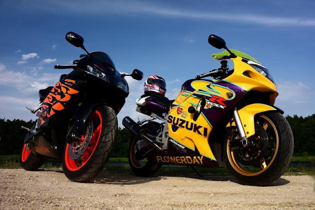 Motocykle wyścigowe: Honda CBR & Suzuki GXR