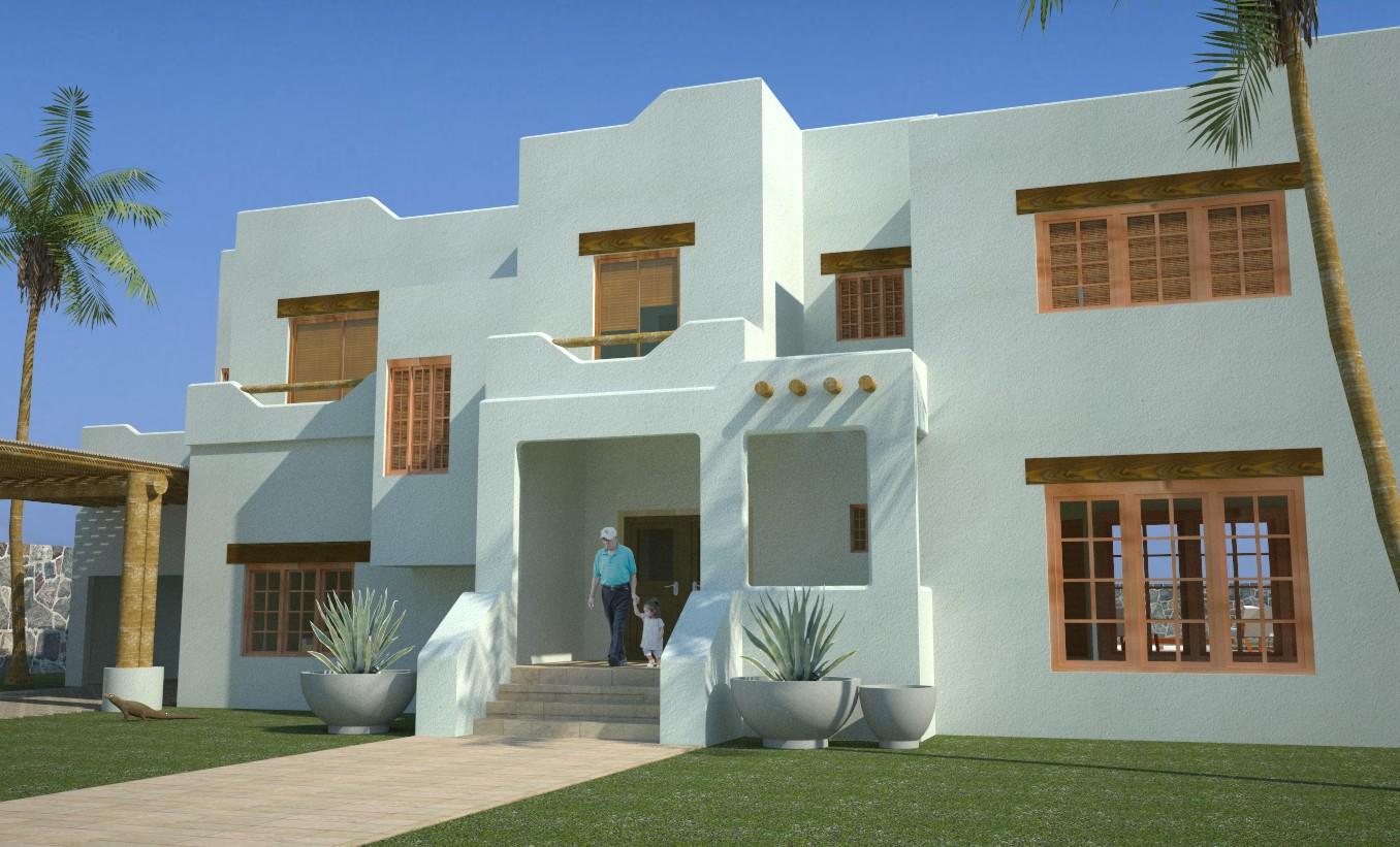 Ramirez arquitecto casa santa fe for Casa in stile santa fe