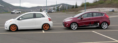 Size: Toyota Yaris vs. Ford Fiesta