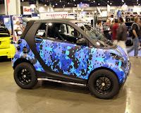 SEMA 2009 Blue-camo Smart - Subcompact Culture
