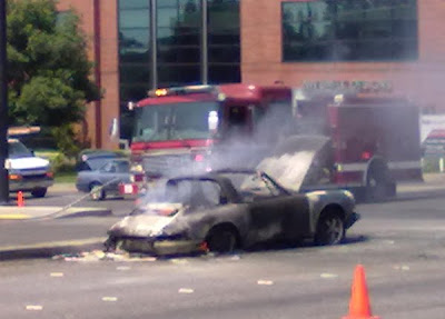 Burning Porsche 911 - Subcompact Culture