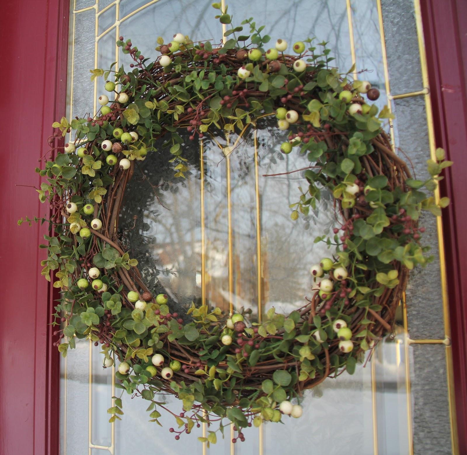 Stranded In Cleveland Front Door Wreath Diy Craft January Wreath