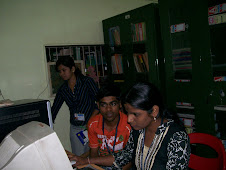 Students using Internet in the library