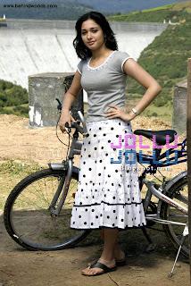 tamanna bhatia with her bicycle