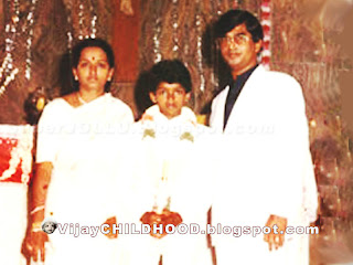 Vijay  and his parents in the Church