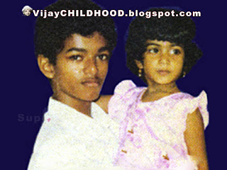 kollywood Tamil super actor vijay  with her sister vidhya