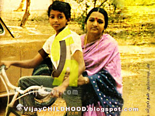 kollywood Tamil super actor vijay with his mom