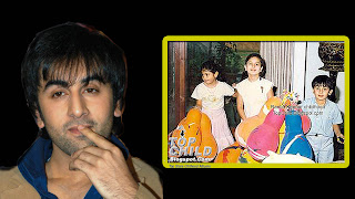 Ranbir kapoor childhood photo with kareena kapoor
