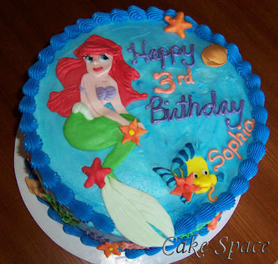 The Little Mermaid Birthday Cake Fondant. The Little Mermaid Cake