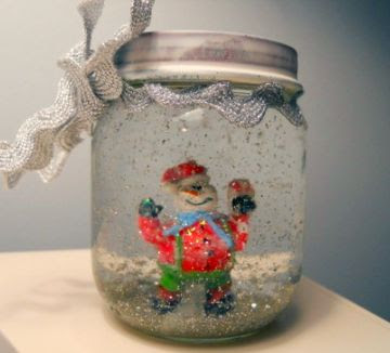 make your own snow globe, advent activities for kids