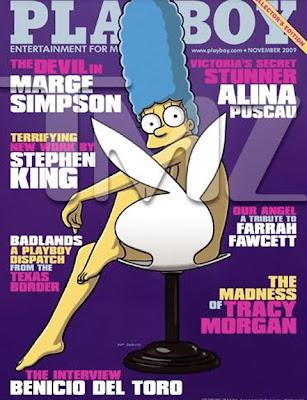 Marge Simpson A Capa Da Playboy De Novembro