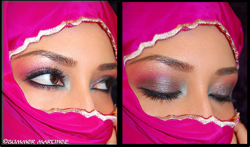 arabic eye makeup. Purple Color Arabic Eye Makeup