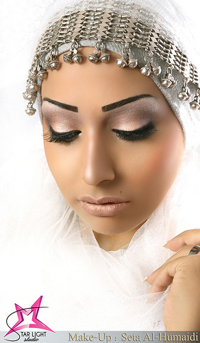 arabic makeup looks. Purple Color Arabic Eye Makeup