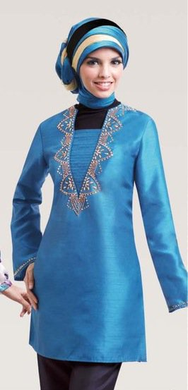 Silk Muslim Tunic Top