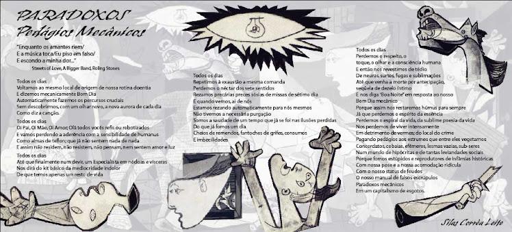 Poster Poema Paradoxos, Silas Correa Leite