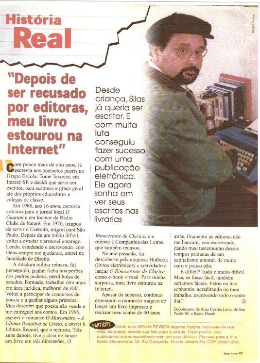 Silas Correa Leite em Entrevista à Minha Revista-RJ