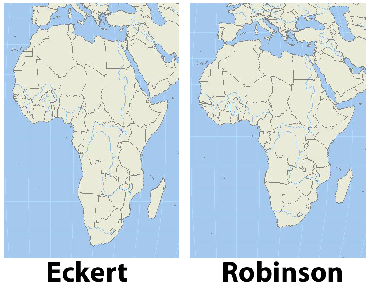 World geography blog august 2010 i remember as a child certain world maps making africa look tall and skinny something didnt sit right with me when i saw that particular projection gumiabroncs Image collections