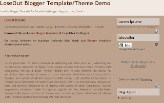 loseout blogger template