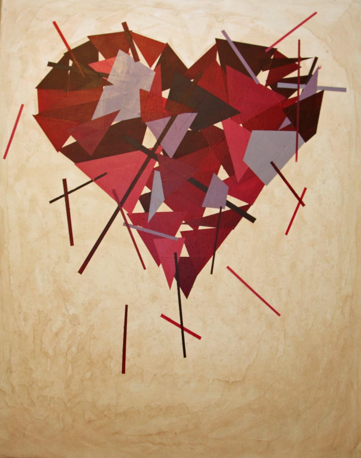 Abstract Human Paintings Abstract Human Heart Painting
