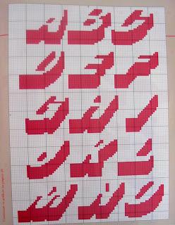 Graficos alfabeto em ponto cruz