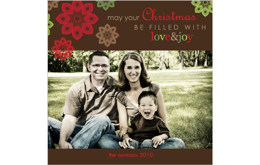 Fireflies and Jellybeans: Christmas cards and Shutterfly