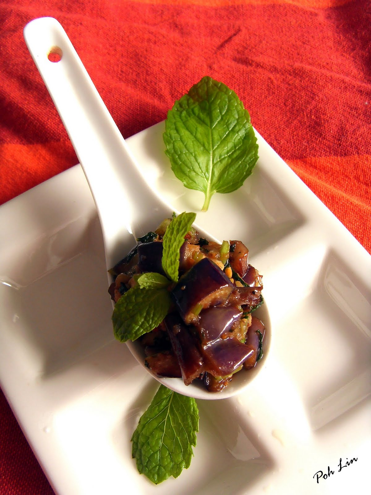 Stir Fried Brinjal & Mint