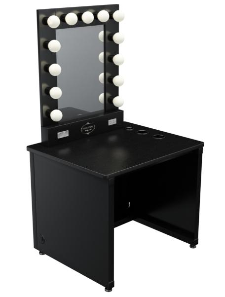 Black Makeup Table With Mirror Makeup Vidalondon