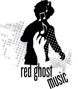 Red Ghost Music Label Designs