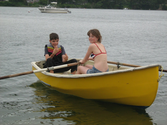 Kids going for a row in Martha's Vineyard.