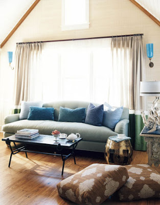 Room Lust: Frank Roop loves him some brown and blue.