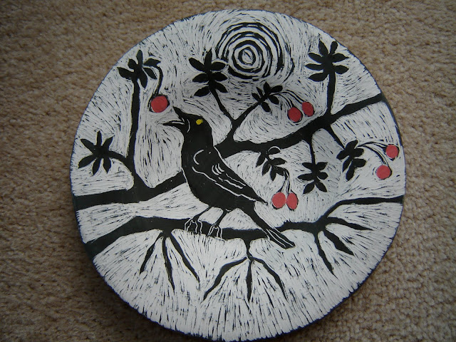 Blackbird in a Cherry Tree