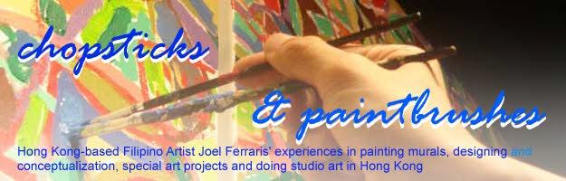 chopsticks and paintbrushes