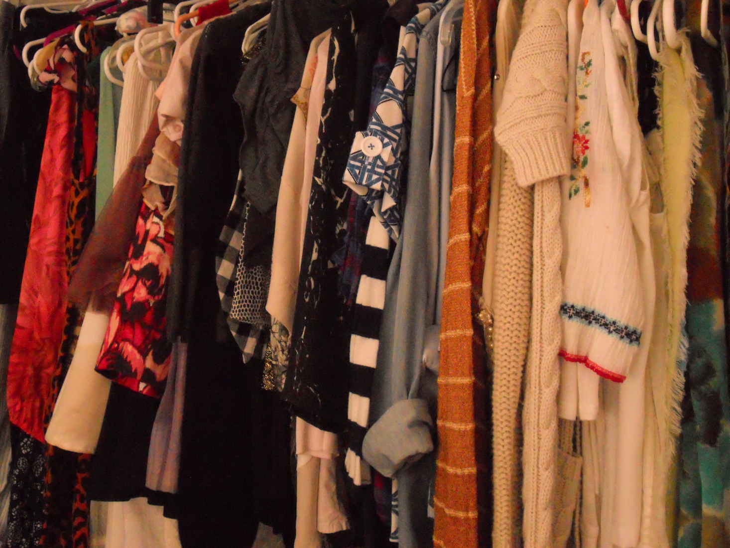 Arrange my hang up clothes by type then color