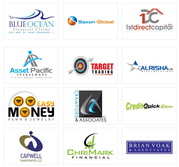 Custom logo design by logoprodesign financial services for Service design firms