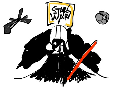 sketch star wars