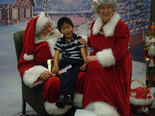 Steven visits with the Claus Family