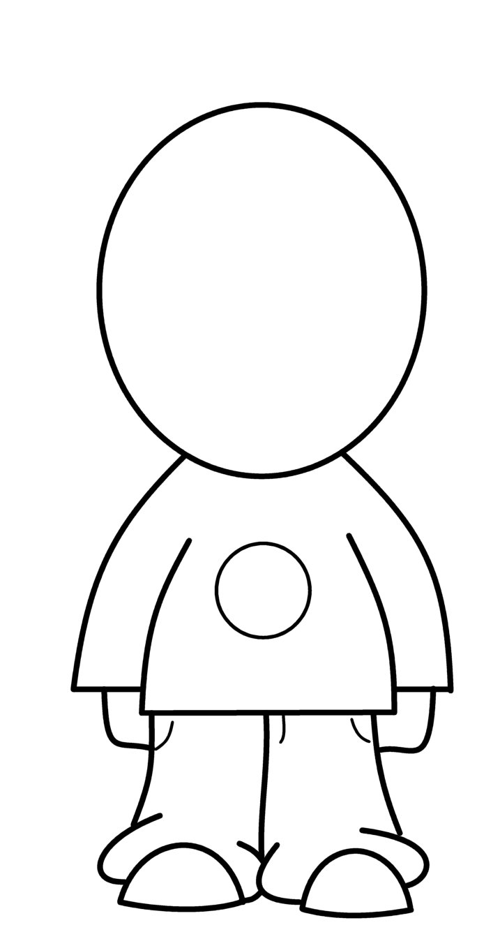 How To Draw ... Chibi Template Boy