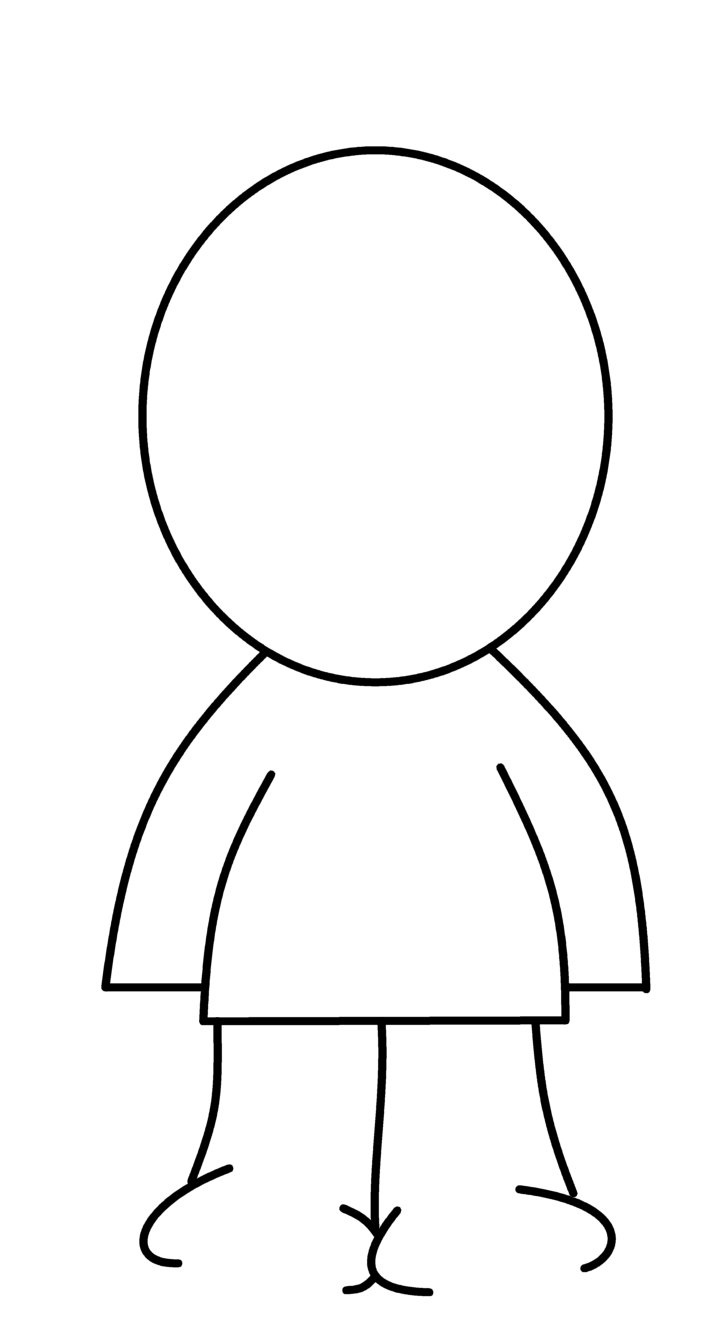 Blank head coloring page pronofoot35fo Gallery