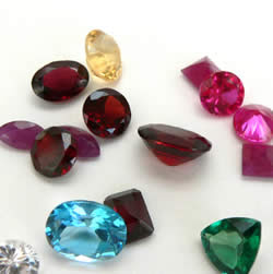 silver jewellery and gemstones
