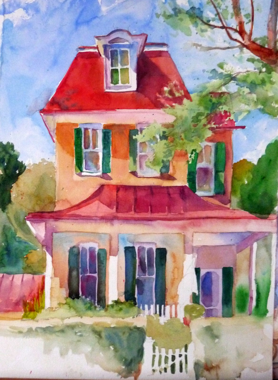 Laura 39 s watercolors charles reid workshop for Projects of houses