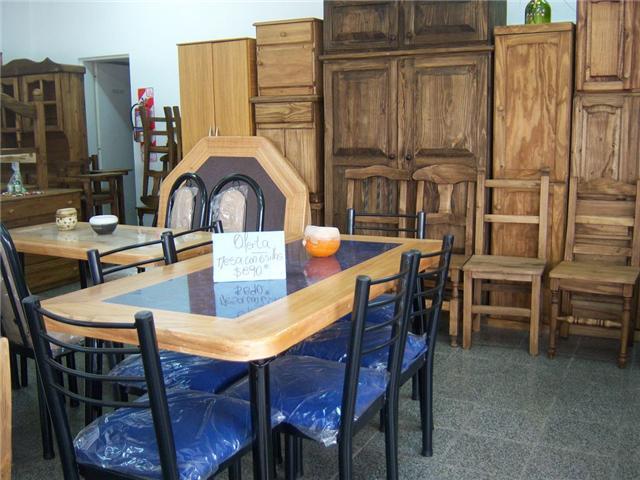Mesas y sillas combinadas (madera y caño) muy económicas!!!