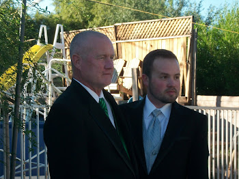 Steve and our Son, Sam, the groom