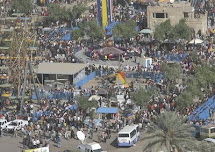 THOUSANDS Celebrate In Baghdad As Violence Falls