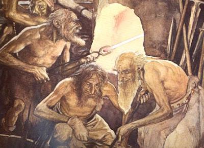 El Origen Nórdico del Mundo Enanos+herreros
