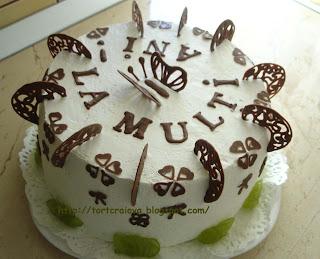 Articole culinare : Tort fructe & frisca (Whipped Cream & Fruits Cake)
