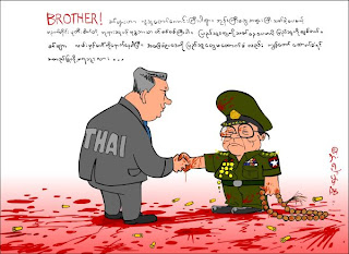 """>From Thai to Burmese junta; """"We are totally religious … we will vote 'YES' to each other …"""""""