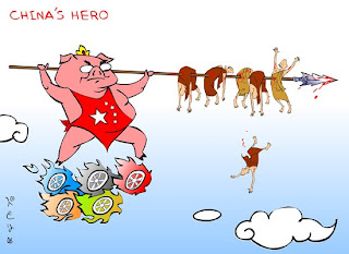 >Cartoon Beruma – The Great Wall of Burma – The China, the Hero