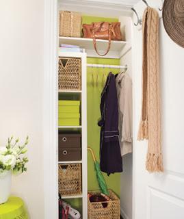 Entry Closet | organizingmadefun.com
