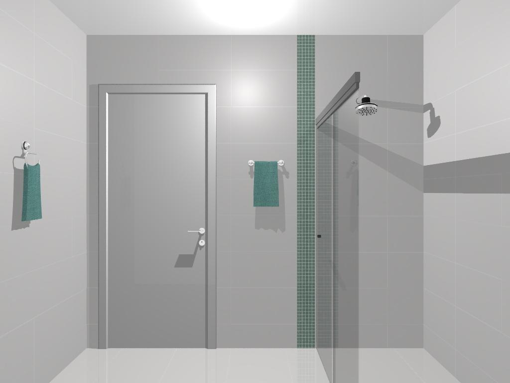 ARQUITETURA E DESIGN VERIDIANA NEVES Jundiaí e região: Projeto de  #4E7671 1024x768 Banheiro Com Pastilha Vertical